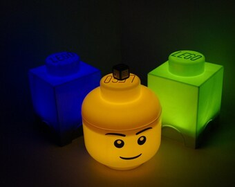 LEGO® Brick and Head LED night lights