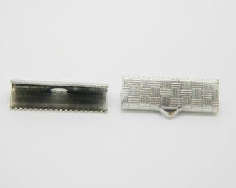 24 x greenhouse Ribbon claw silver 20mm (l1266)