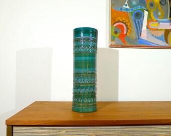 Vintage Bitossi vase designed by Aldo Londi, Rimini Green and Blue, Italy, Italian Pottery, Mid Century Modern, Raymor, Rosenthal Netter