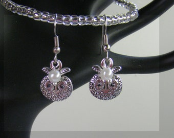 Personalized Owl Earrings-Birthstone Earrings-Choose Silver or Hypoallergenic Ear Wires