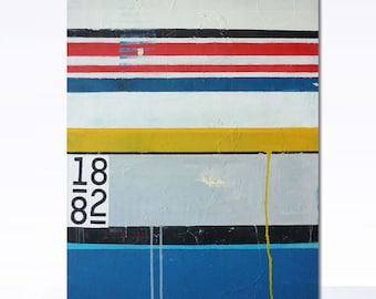 Abstract minimalist acrylic painting 19,5 in x 27,5 in. Original canvas