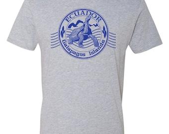 Galapogos Islands T Shirt Charles Darwin Science Evolution Turtle Scuba Diving