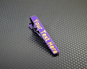 Purple Tie Bar, Purple Tie Clip, Purple Wedding, Groomsmen Gift, Personalized Tie Bar, Custom Tie Bar, Tie clip, Purple Gift,Custom Tie Clip