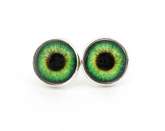 Eyeball Earrings Green Eyes Teen Jewelry Tween Earrings Quirky Earrings Eyeball Jewelry Cool Earrings Trendy Jewelry Evil Eye Earrings