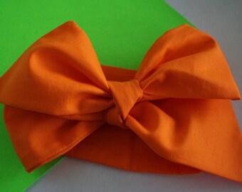 Orange Headwrap, neon color, summer