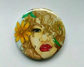 Sunshine Ruby- 2.25 inch button
