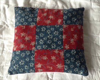 Large Lavender Pillow, Cushion, patchwork, Home Fragrance