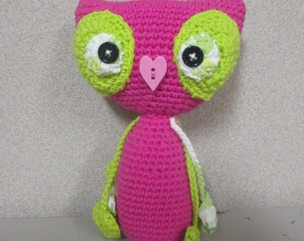 Super cute crochet owl amigurumi/ owl doll / owl decor