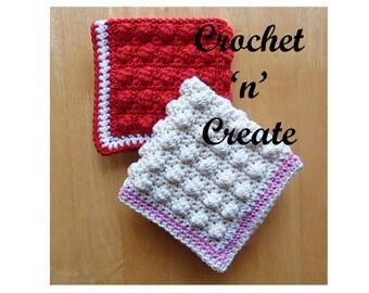 Scrubby Dishcloth Crochet Pattern (DOWNLOAD) CNC03