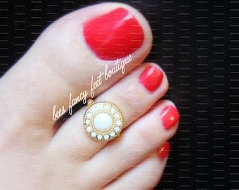 Tribal Toe Ring, Indian Toe Ring, Tribal Ring, Indian Ring, White Gold Toe Ring, White Gold Ring, Stretch Bead Toe Ring