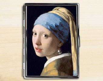 Girl With A Pearl Earring Cigarette Case, Cigarette Holder, Cigarette Case, Metal Cigarette Case, Cigarette Box, Johannes Vermeer