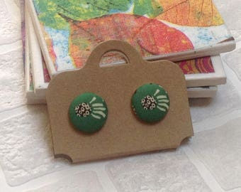 Liberty Fabric button | SMALL Button earrings | Stud earrings | Made in the UK | Unique gift ideas