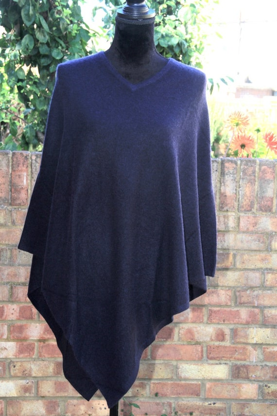 More Cashmere One Cashmere Poncho 100 Colours Jumper Neck Pashmina V Winter Size Warm Sweater Poncho Available Pure xC688Bd