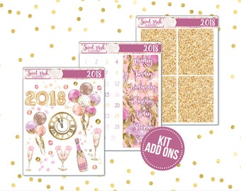 2018 // Kit ADD ONS-Stickers for the EC Happy Planner Life planner