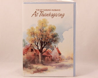 NEW! Vintage Religious Lawson Falle Limited Greeting Card. One Card and Envelope. Husband Thanksgiving