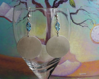 Earrings in 925 sterling silver contemporary