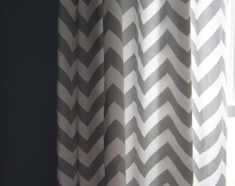 Gray And White Chevron Curtains