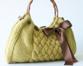 NzLbags Handmade - Handbag - Shoulder Bag - Everyday Bag - Mustard Yellow Nr-054