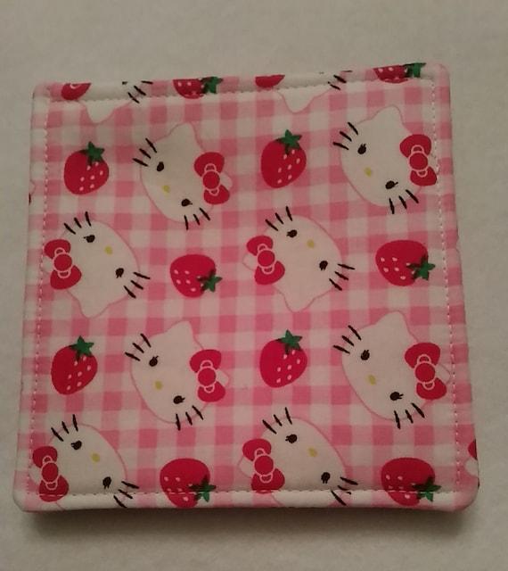 Kitty Mug Rugs-hello Kitty Reversible Fabric Coasters-pink