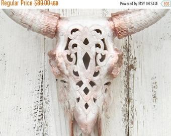 LongHorn Skull,Longhorn Decor,Longhorn Skull~Gold,Longhorn Skull,Antler Gift,Rose Gold,Living Room Wall Decor