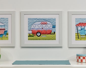Campers Set of Four Prints, Group A