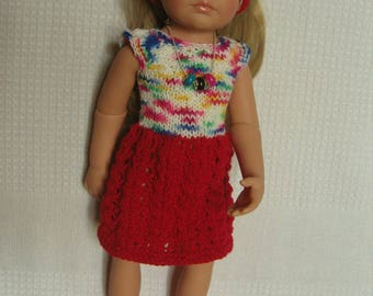 Outfit for Gotz doll, dress shoes, headband and necklace