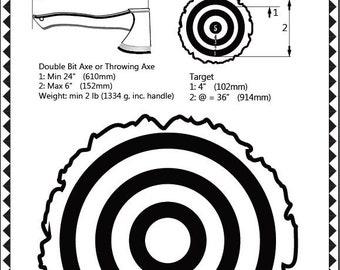 LumberJack Axe Throwing Competition PDF Poster - CUSTOM DIY