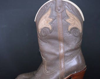 vintage acme high heel cowboy boots women's size 7M