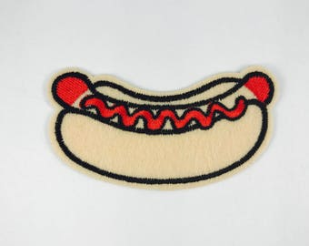 Hotdog iron on patch