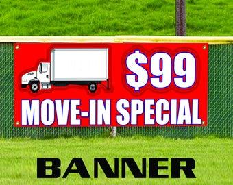 Move In Special Business Advertising Banner Sign Indoor Outdoor Window