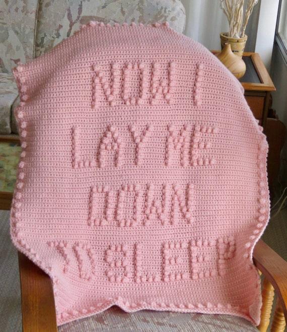 Now I Lay Me Down To Sleep Crochet Baby Blanket Pattern - Baby Blanket Pattern - Blanket Pattern