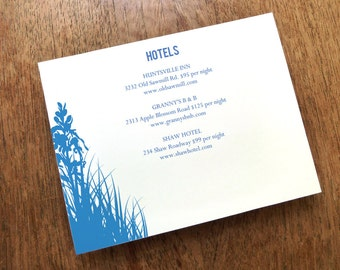 INSTANT DOWNLOAD -  Wedding Enclosure Card Printable - Bluebell - Printable Wedding Information Card