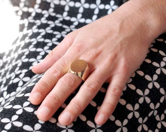 Seal ring gold plated