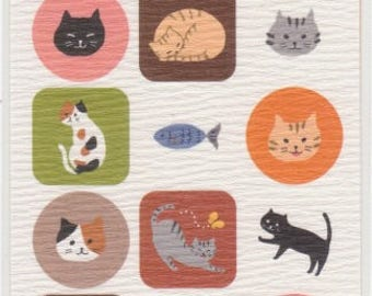 Cat Stickers - Paper Stickers - Reference A4964-65