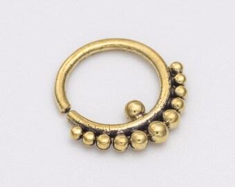 Tribal tragus earring.  tragus earring. tragus hoop. tiny hoop earrings. tragus jewelry. tiny earrings. helix earring.