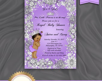 Lavender baby invite etsy printable baby showr invitation its a gril little princes royal baby shower filmwisefo Choice Image