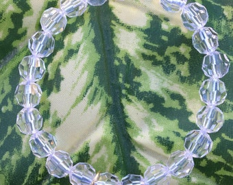 Clear Beaded Gem Bracelet