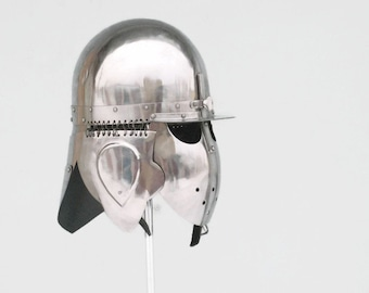 Reconstruction Helmet, Ridderens Beskyttelse, Reenactors Knight's Helmet, SCA Protection, Romish Helmet, Ritterhelm, ナイトの鎧, Casque Médiéval