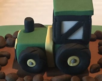 Tractor cake topper decoration