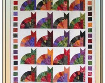 Inner Cat Quilt Pattern - Erin Underwood Quilts - Cat Quilt Pattern - Fat Quarter Friendly Lap Quilt Pattern, Cat Lover Quilt Pattern