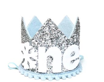 Winter Onederland    Snowflake Crown    First Birthday Crown Boy    Winter ONEderand Birthday    First Birthday Outfit