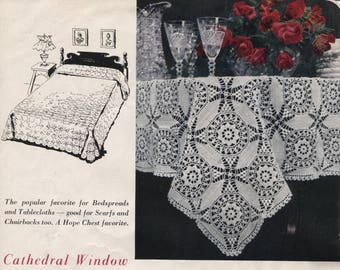 Crochet Bedspread or Tablecloth Pattern - Scarf and Chair Back Antimacassar - PDF Download - Help Rescued Cats