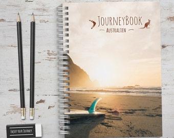 Australien Reisetagebuch mit kleinen Aufgaben & Reise-Zitaten - zum selberschreiben oder als Abschiedsgeschenk - JourneyBook