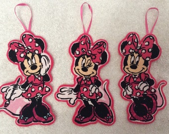 Minnie Mouse Christmas Ornaments-Set of 3