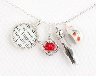 My Fair Lady / Tea Necklace / Musical Theatre Gift / Broadway Musicals / Theatre Jewelry / Mother's Day Gifts / Movie Lover / Audrey Hepburn