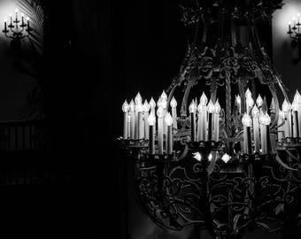 Chandelier photography, romantic photography, peabody hotel, memphis photography, noir photography, chandelier art, large wall art