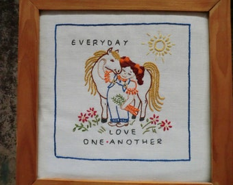STARTER KIT for EVERYDAY Love One Another Embroidery Design