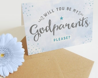 Will you be my Godparents? card