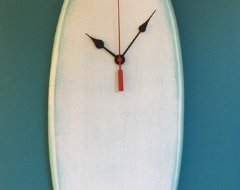Noosa Heads Surfboard clock!hand crafted! 70cm long!