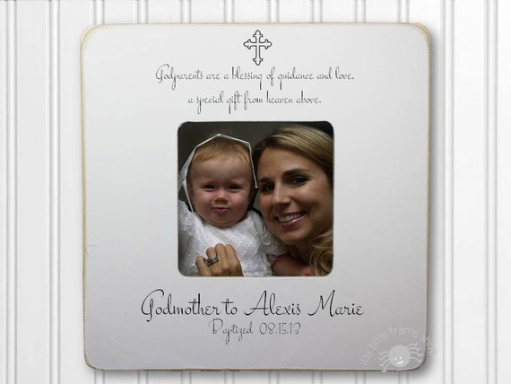 Godmother Gift Godmother Frame Gift for Godmother Baptism Frame ...